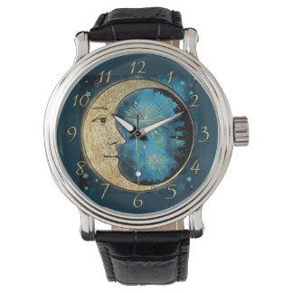 Der Mann ist die Mond-Uhr Uhr