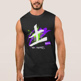Der Männer Sleeveless Kanji ultra Baumwoll/Krieger Ärmelloses Shirt