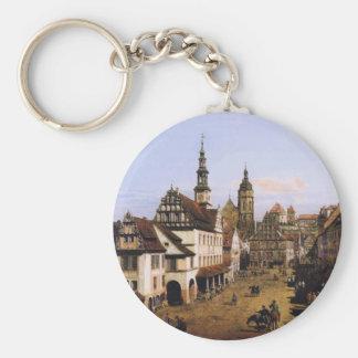 Der Markt bei Pirna durch Bernardo Bellotto Schlüsselanhänger