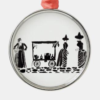 Der Markt der Hexen Rundes Silberfarbenes Ornament