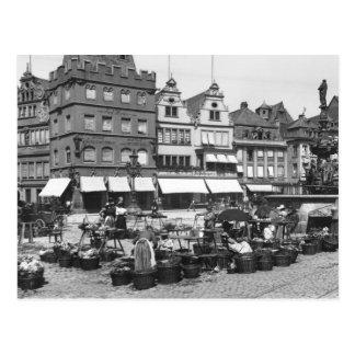 Der Marktplatz am Trier, c.1910 Postkarte