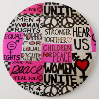 """Der März der Frauen, 6"""" rund Runder Button 15,3 Cm"""