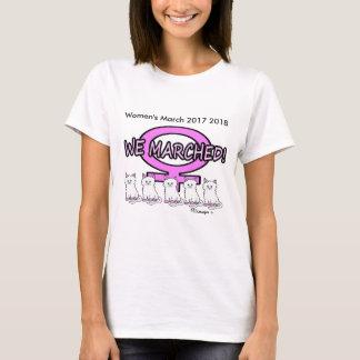 Der März der Frauen marschierten wir Pussy-T - T-Shirt