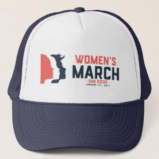 Der März-Fernlastfahrer-Hut San Diego Frauen Truckerkappe