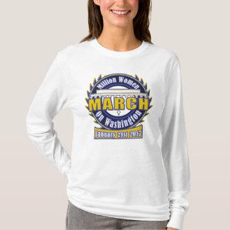 Der März Million Frauen auf Blau-Gold Washingtons T-Shirt
