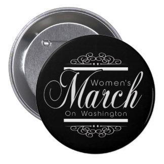 Der März Million Frauen auf Knopf-Button Runder Button 7,6 Cm