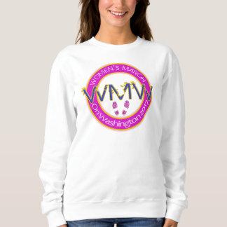 Der März Million Frauen auf rosa Gold Washingtons Sweatshirt