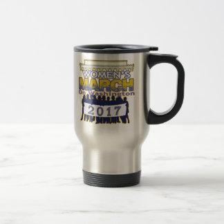 Der März Million Frauen auf Washingtonkaffee-Tasse Reisebecher