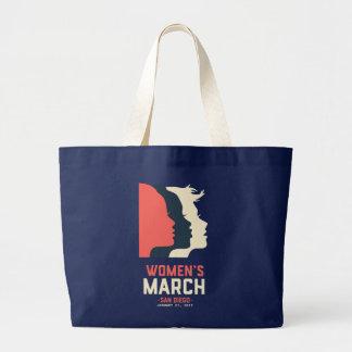 Der März-Taschen-Tasche San Diego Frauen Jumbo Stoffbeutel