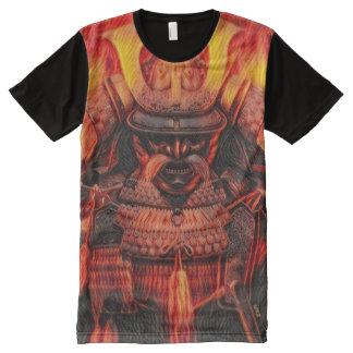 Der meiste populäre alte Feuer-Samurais Oni Geist T-Shirt Mit Komplett Bedruckbarer Vorderseite