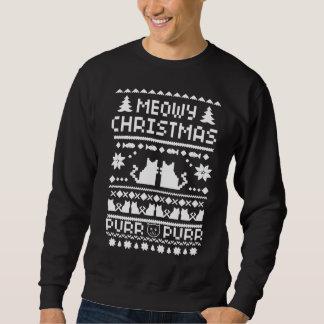 Der Meowy der Männer Weihnachtsfeiertags-hässliche Sweatshirt