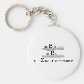 Der Metzger der Bäcker das Candlestickmaker Schlüsselanhänger