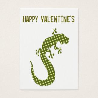 Der Minicard des grüne Eidechsen-Valentinsgrußes Visitenkarte
