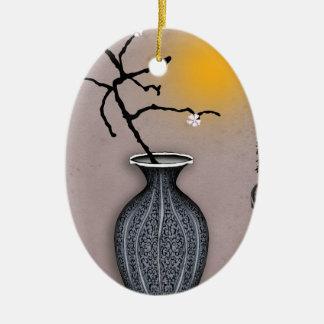 der Mond der tony fernandess und Blüte mit 4 Keramik Ornament