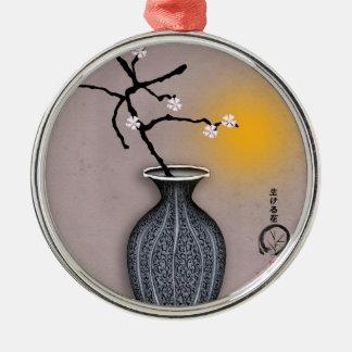 der Mond der tony fernandess und Blüte mit 8 Rundes Silberfarbenes Ornament