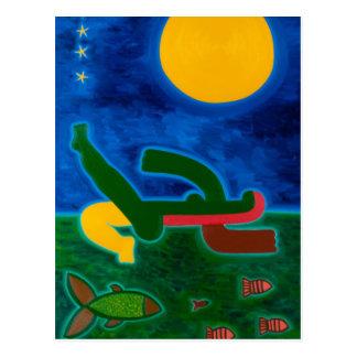 Der Mond reiste in Skorpion 2014 Postkarte