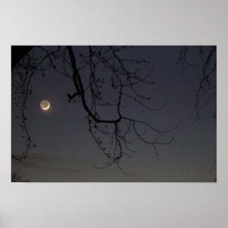 Der Mond u. Mercury Poster