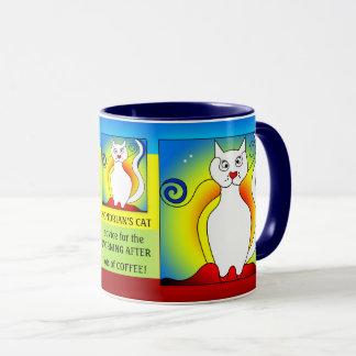 Der Morgen nach lustiger Mondrian Katzen-Tasse Tasse