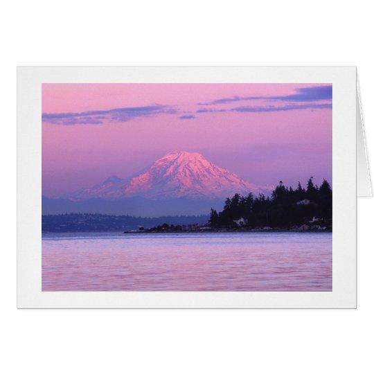 Der Mount Rainier am Sonnenuntergang, Staat Karte