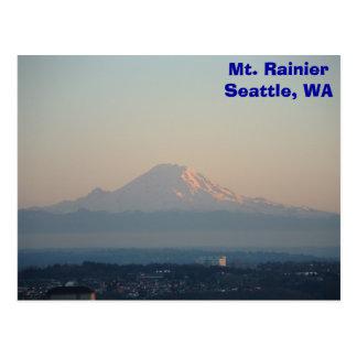 Der Mount Rainier Postkarte