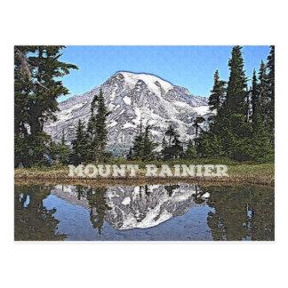 Der Mount Rainier - Washington-Staat Postkarte