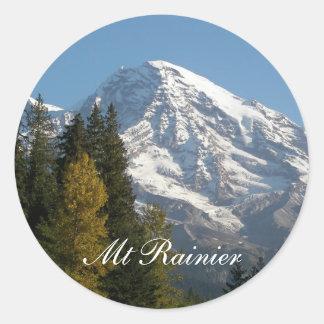 Der Mount- Rainieransicht-Foto Runder Aufkleber