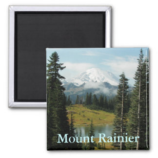 Der Mount- Rainiergebirgsporträt Quadratischer Magnet