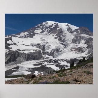 Der Mount- Rainiergletscher-Vista-Foto Poster