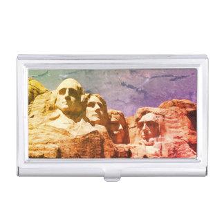 Der Mount Rushmore Präsidentenmonument 1974 Visitenkarten-Halter
