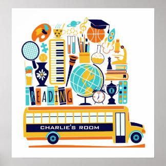 Der Name-Schulplakat der Kinder Poster