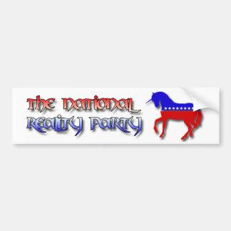 Der nationale Wirklichkeits-Party Bumber Aufkleber Autoaufkleber