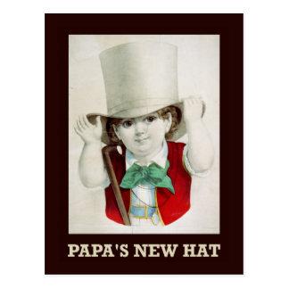 Der neue Hut des Papas Postkarte