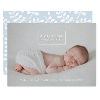 Der neugeborene König Holiday Foto Card Karte