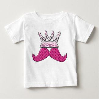 Der niedliche rosa gedruckte Schnurrbart perlt Tshirt