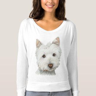 Der niedliche T - Shirt der Westie Hundekunst-Frau