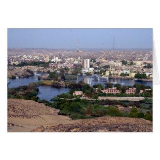 der Nil Assuan Karte