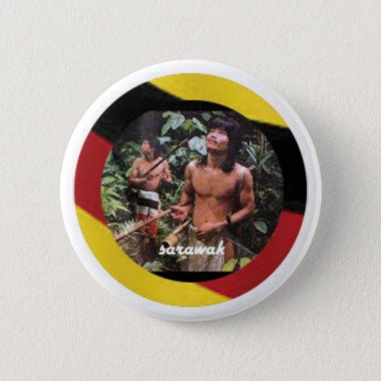 Der nomadische Eingeborene von Borneo-Insel Runder Button 5,1 Cm