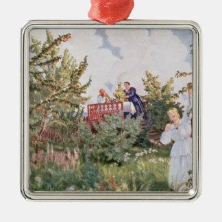 Der Obstgarten, 1918 Quadratisches Silberfarbenes Ornament