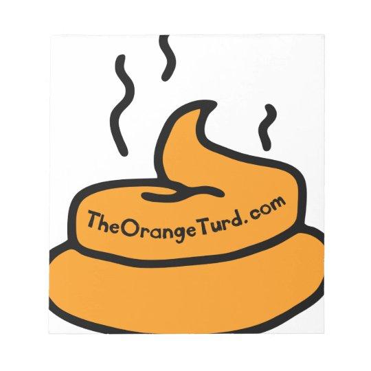 Der orange Turd Notizblock