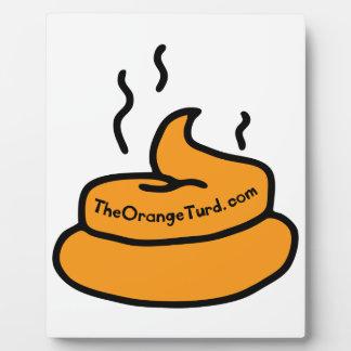 Der orange Turd Platte