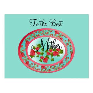Der ovale Tag der Rosen-Mutter Postkarte