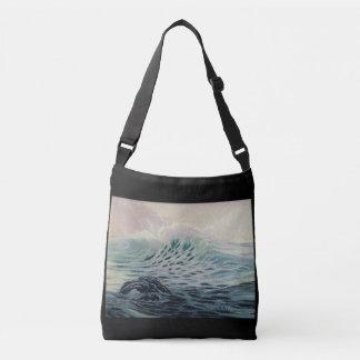 Der Ozean - eine Kraft der Natur-Taschen-Tasche Tragetaschen Mit Langen Trägern