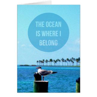 """""""Der Ozean ist, wo ich"""" Notecards gehöre Mitteilungskarte"""