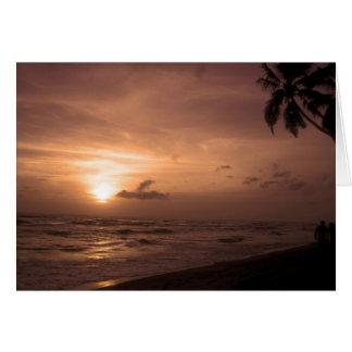 Der Ozean-Sonnenuntergang-Szenen-Karte Karte