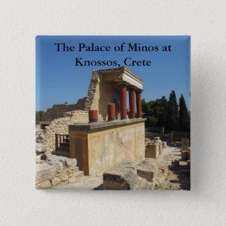 Der Palast von Minos bei Knossos, Kreta, Quadratischer Button 5,1 Cm
