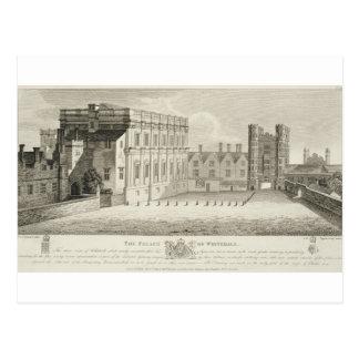 Der Palast von Whitehall, von einem Zeichnen im Postkarte