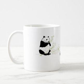 Der Panda, der Bambus isst, addieren Namen Kaffeetasse