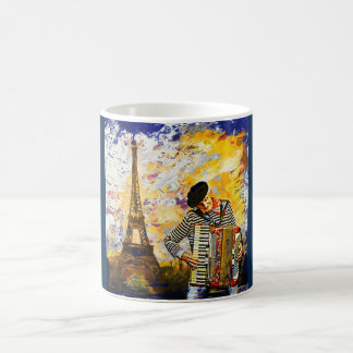 Der Pariser Akkordeonspieler Kaffeetasse