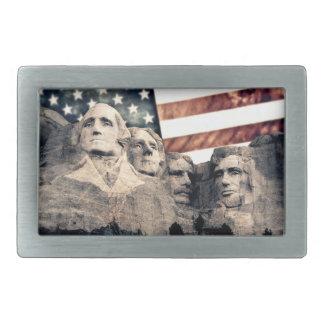 Der patriotische Mount Rushmore Rechteckige Gürtelschnalle