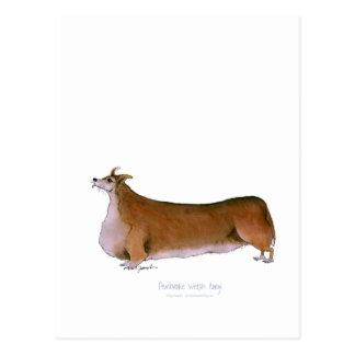 der Pembrokewalisercorgi, tony fernandes Postkarte